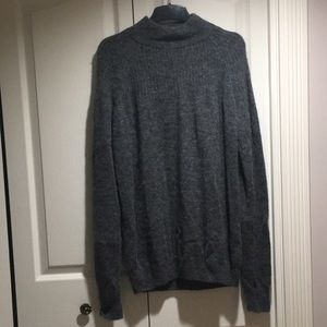 NWT WoolRich Mock Neck grey alpaca sweater size M
